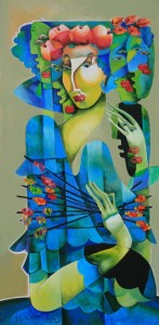 062. Muse in blue (2012) 60x90