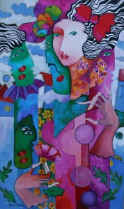 075. Muses with violin (2013) 75x45