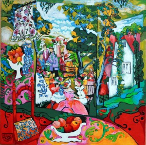 PICNIC IN MY STUDIO  80x80cm