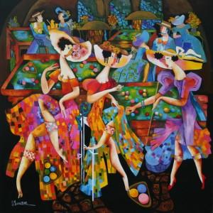 17. Salonul de biliard (2012) 100x100