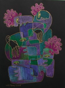 MUZICAle-15x21cmSOLD,tus&pastel