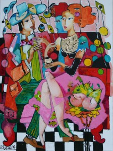 Duet with muses-80-60cm